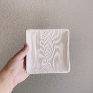 Faux Bois Square Tray or Candle Holder